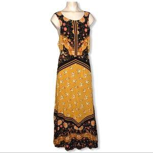Free People Sunrise Oblivion Antique Gold Dress